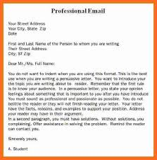 professional email format