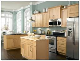 kitchen paint colors pictures with oak cabinets wall and black