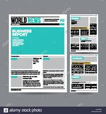 Newspaper Design Template Vector Modern Layout Financial Articles Business Information World News Economy Headlines