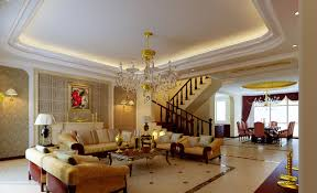 Gorgeous Home Interior Design With Various Gypsum Ceilings Interesting Modern Living Room Decoration Using