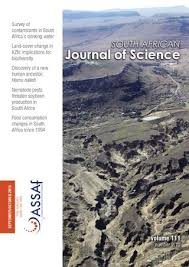 South African Journal Of Science Volume 111 Issue 9 10 By