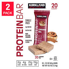 Costco Members 40Ct Kirkland Signature Protein Bars Cinnamon Roll