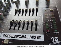 Sound Mixer Control For Live Music And Studio Equipment