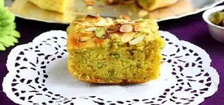 Eggless Mawa Pistachio Bundt Cake recipe