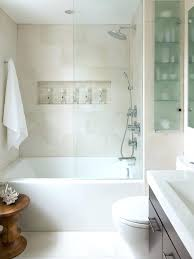 shower cabinet for small bathroom exle of a trendy beige tile