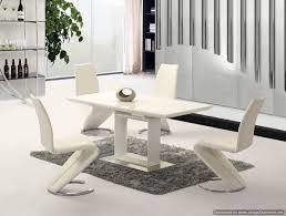 100 White Gloss Extending Dining Table And Chairs Cream High Room Furniture