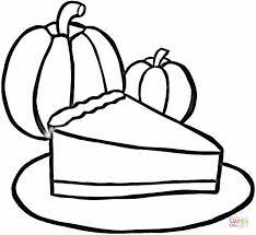 Piece Of Pumpkin Pie Coloring Page