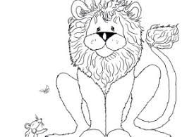 The Lion And Mouse Coloring Pages Free Colorin