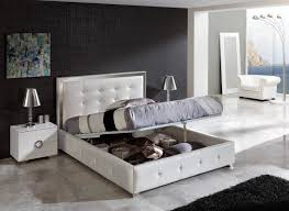 Contemporary White Bedroom Set With Storage Cozy Style Modern