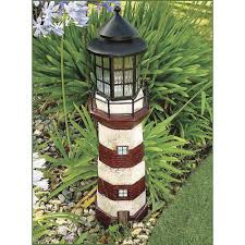 100 Lighthouse Truck And Auto Solar Powered Garden Decor 35inH RedIvory Www