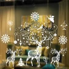 weihnachten removable vinyl fensterbilder weihnachtssticker