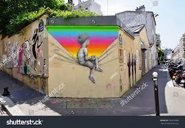 Famous Street Mural Artists by Paris France 15 June 2015 Graffiti Stock Photo 296372090
