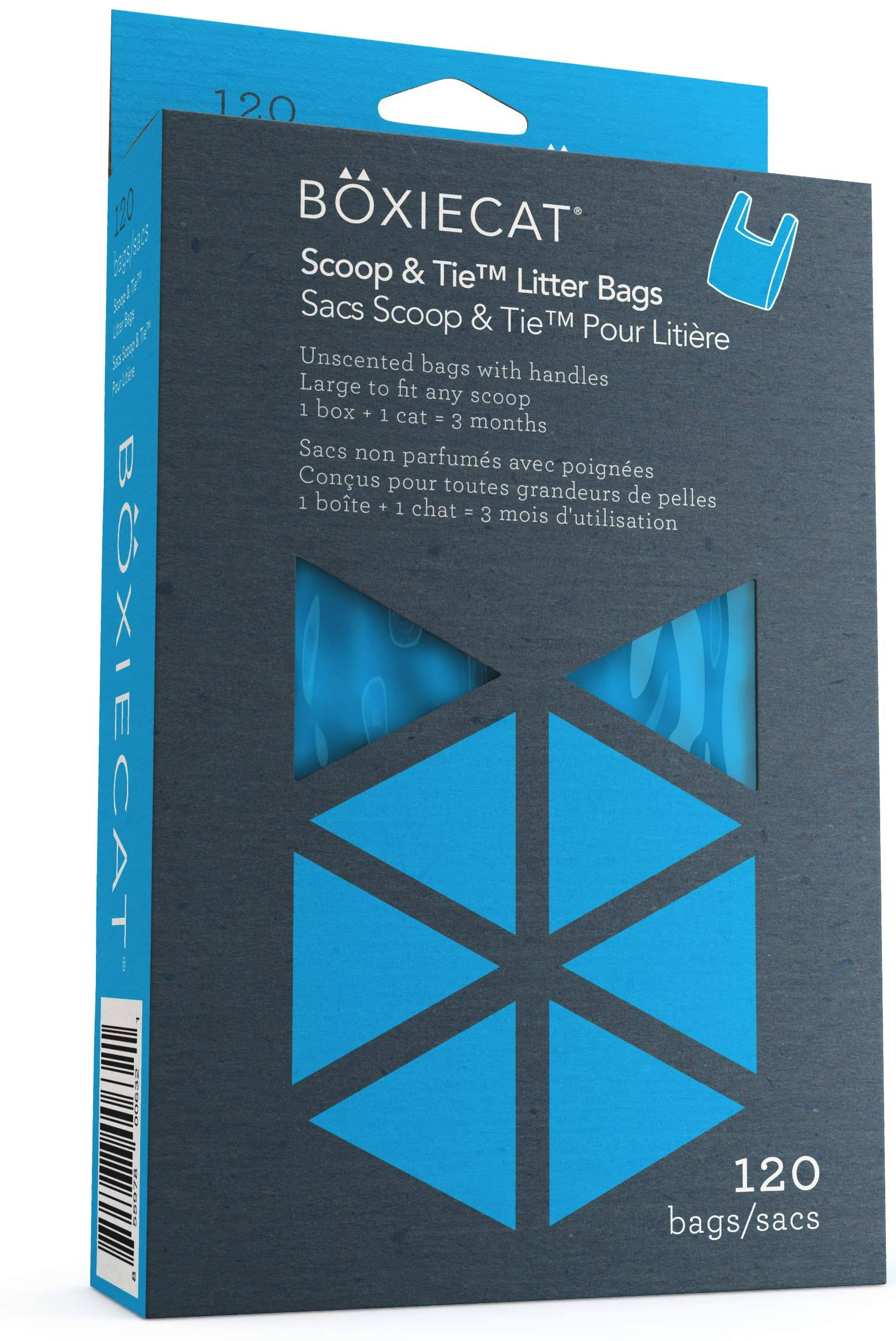 Boxiecat Scoop & Tie Litter Bags, 120 Count