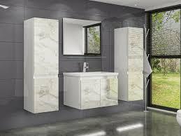 60 cm badmöbel set hochglanz weiss marmor optik hochglanz badezimmermöbel 60 cm 2x hochschrank 1x spiegel 1x waschbecken unterschrank 1x keramik