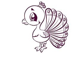 Cartoon Peacock Lineart By Crochetamommy
