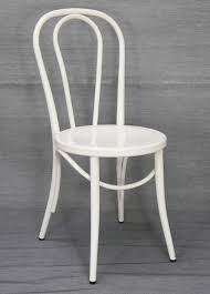 Thonet Bentwood Chair Replica by Thonet No 18 Bentwood Metal Retro Dining Chair White