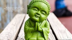 Tiny Green Buddha Wallpaper