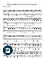 Sinking Deep Piano Easy by Zedd Find You Acoustic Piano Sheet Music