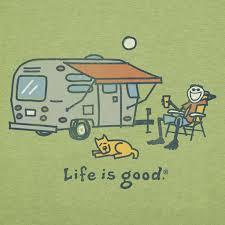 Line Drawing Of Vintage Camper Trailer