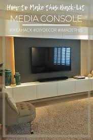 building a backlit media console using ikea bestå