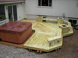 Decks With Hot Tubs: The Outstanding Home Deck Design | HomesFeed Hot Tub On Deck Ideas Best Uerground And L Shaped Support Backyard Design Privacy Deck Pergola Now I Just Need Someone To Bulid It For Me 63 Secrets Of Pro Installers Designers How Install A Howtos Diy Excellent With On Bedroom Decks With Tubs The Outstanding Home Homesfeed Hot Tub Pool Patios Pinterest 25 Small Pool Ideas Pools Bathroom Back Yard Wooden Curved Bench