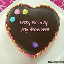 Write Name Birthday Chocolate Cake line