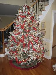 Flocked Artificial Christmas Trees Sale by Decorating Beautiful Flocked Christmas Tree For Exterior Design