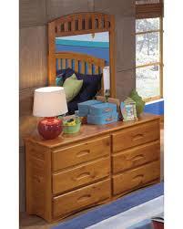 deal alert american 6 drawer honey pine wood dresser mirror set