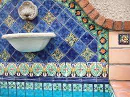 washed blue talavera mexican tile