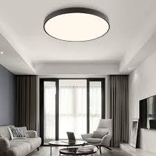 moonsea 18w led deckenle 4500k deckenleuchte rund schwarz durchmesser 30cm 12 inch für flur wohnzimmer schlafzimmer küche