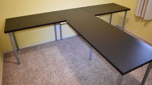 Linnmon Alex Desk Black by Hack A Tshaped Partner Desk Without Legs In The Centre Made From