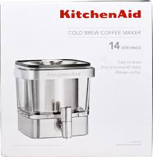 KitchenAid Cold Brew Coffee Maker Brushed Stainless Steel 1 Unit