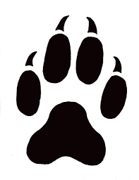 Badger Paw Prints Clipart