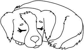 Dog Coloring Page Animals Town Color Sheet Free