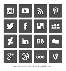 social media icon vectors Design Resources