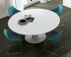 Circular Extending Dining Table Beautiful Design White Round Moon Tables Extension Oak T6211