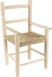 chaise enfant en bois fauteuil enfant en bois de hêtre brut