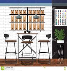 Best Coffee Shop Design Stock Vector. Illustration Of Chair ...