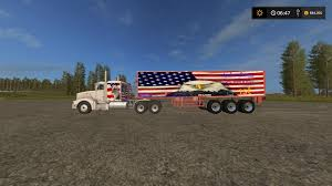 100 Truck From Gamer STEELCRAFTER59 LOGO TRUCK AND TRAILER V100 FS17 Farming