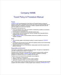 Business Travel Policy Template Sample 9 Free Documents Download In Word Printable
