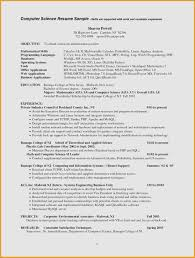 Sample Computer Science Resume Unique For Puter Major At Ideas