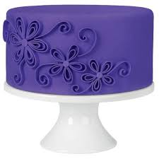 quilled flowers purple fondant cake combine the trendy look of