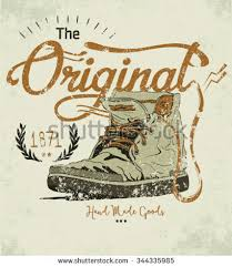 Hand Drawn Retro Vintage Shoes Vector Illustration