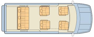 Signature Custom Sprinter Van Floor Plan 2
