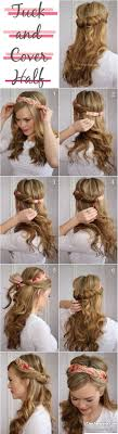 Tuck And Cover Half Up Hairstyle The Perfect Way To Your Favorite Headband Pin Hair Vintage Hairstyles Retro Down