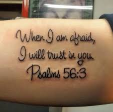 Simplistic Bible Verse Tattoo