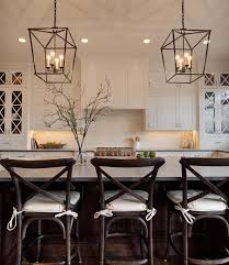 the stove top and cabinets like pendant lights