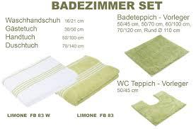 badezimmer set serie uni limone fb83