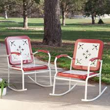 Outdoor Coral Coast Paradise Cove Retro Metal Rocking Chairs ...