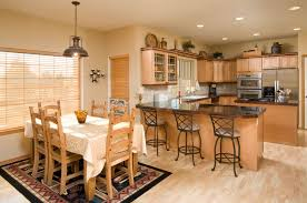 Adorable Kitchen Dining Room Combo Combining Your And Trash Can Idea Extension Design Layout Photo